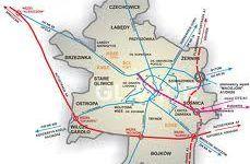 mapa Gliwic Dzisiaj w Gliwicach