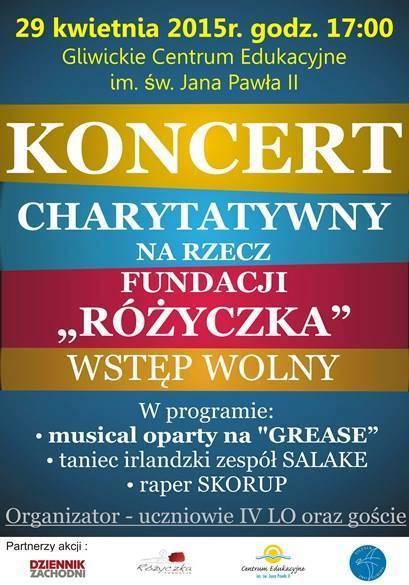 Plakat Koncert Charytatywny Dzisiaj W Gliwicach