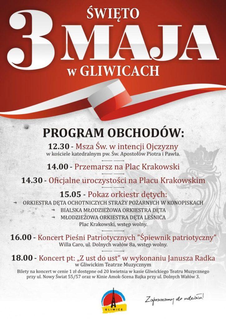 Prezydent Gliwic zaprasza na uroczyste obchody