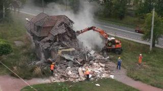 budynek kopalni gliwice zrownany ziemia