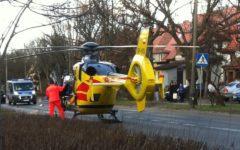 Śmigłowiec lądowanie Tragiczny wypadek na Rybnickiej